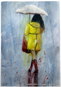 le ciré jaune / peinture acrylique